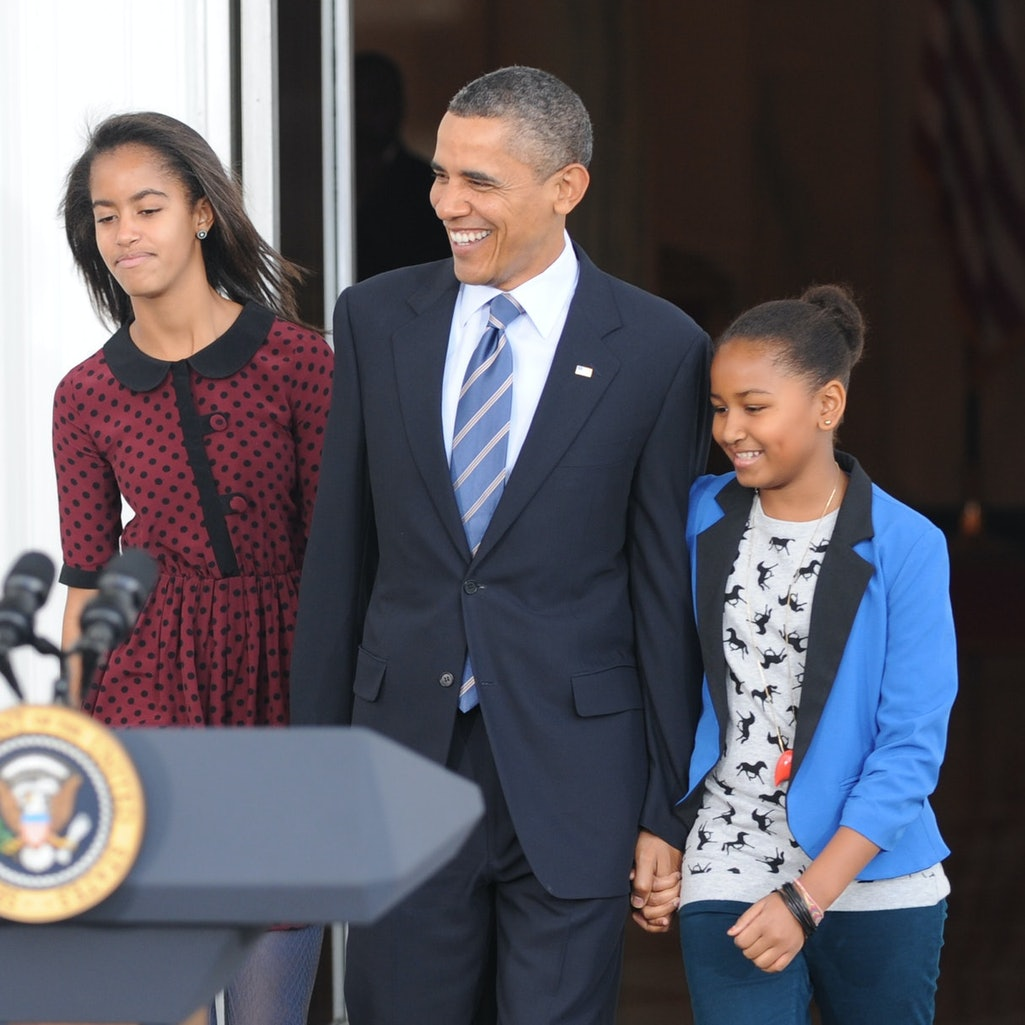 Barack Obama said he was proud of daughters Sasha and Malia for participating in Black Lives Matter rallies