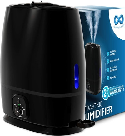 Everlasting Comfort Cool Mist Humidifier with Essential Oil Tray, 6L