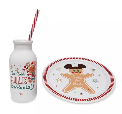 Mickey Mouse Milk and Cookies for Santa Set