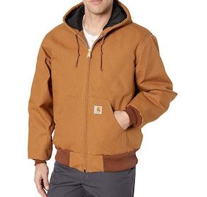 Carhartt Quilted Flannel Hoodie Jacket