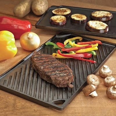 Lodge Pre-Seasoned Cast Iron Reversible Griddle