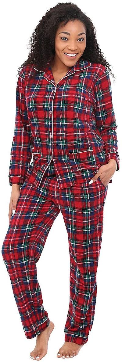 Alexander Del Rossa Women's Warm Fleece Pajamas