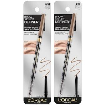 L'Oreal Paris Brow Stylist Definer Waterproof Eyebrow Pencil (2-Pack)