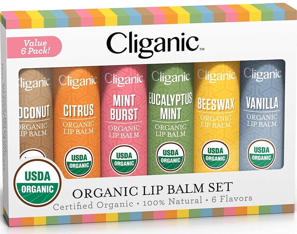 Cliganic Organic Lip Balm Set (6-Pack)
