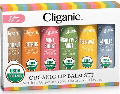 Cliganic Organic Lip Balm Set (6-Pack)