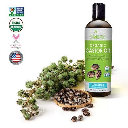Sky Organics USDA-Certified Castor Oil (16 Oz.)