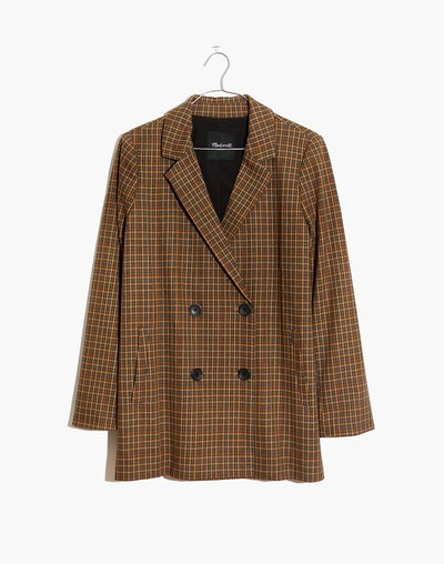 Caldwell Double-Breasted Blazer in Mandell Plaid