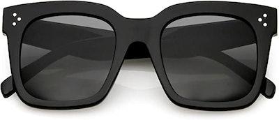 zeroUV - Retro Oversized Square Sunglasses