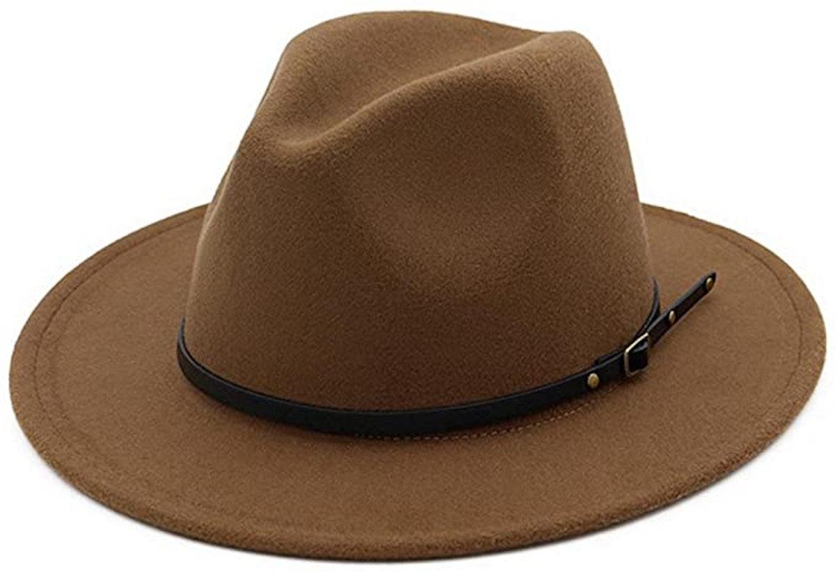 Lisianthus Belt Buckle Fedora Hat
