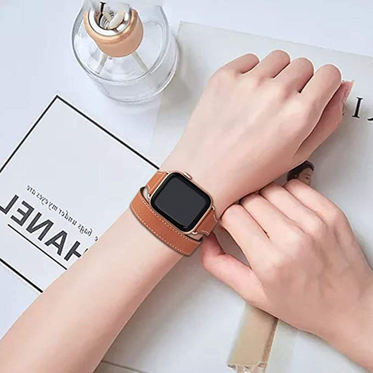 Bestig Genuine Leather Band for Apple Watch