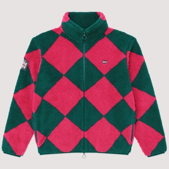 "Rowing Blazers Harlequin Deep-Pile Sherpa ""Jockey Fleece"