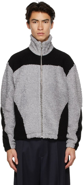 GMBH Grey & Black Fleece Two-Tone Jacket