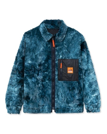 Brain Dead Fully Reversible Front Fur Shirt Jacket