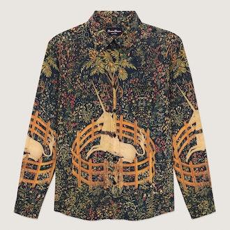 Unicorn Tapestry Printed Shirt
