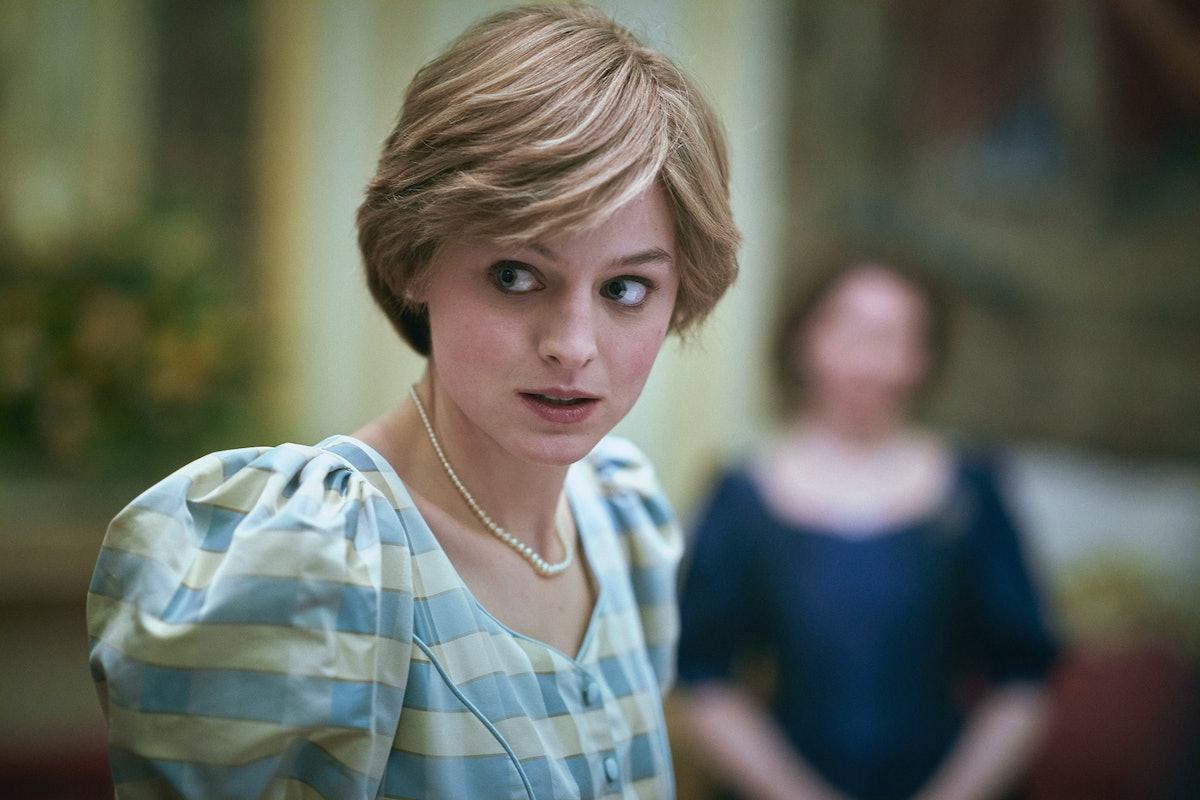 Emma Corrin as Princess Diana in 'The Crown.'