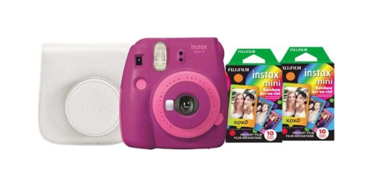 Fujifilm - instax mini 9 Instant Film Camera Bundle - Purple/Pink