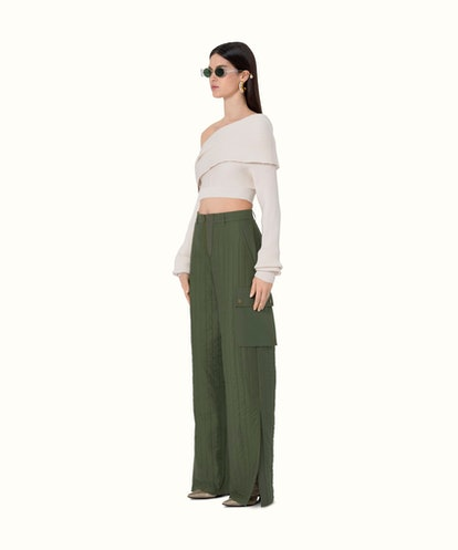 Quilted Baggy Pants