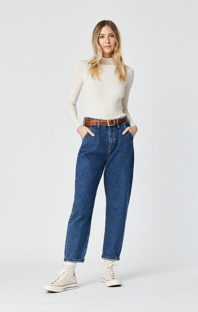 Laura 90's Pleated Baggy Jeans