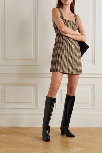Hailey Houndstooth Dress