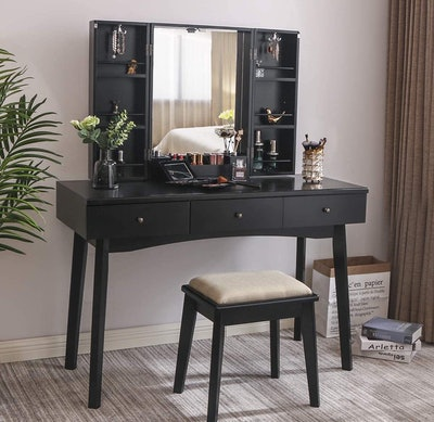 BEWISHOME Vanity With Mirror