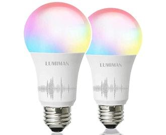 LUMIMAN Smart WiFi Light Bulbs (2-Pack)