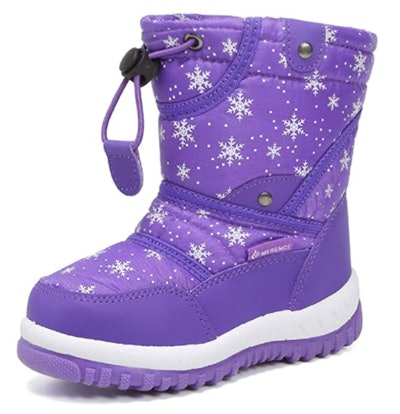 CIOR Winter Snow Boots for Boy and Girl Outdoor Waterproof with Fur Lined