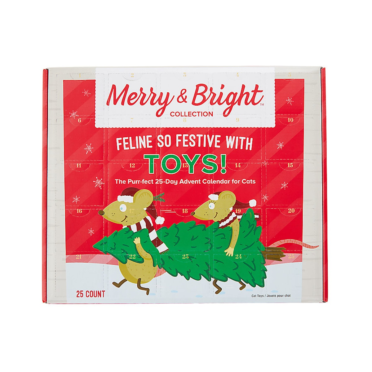 Merry & Bright™ Holiday 25-Day Advent Calendar for Cats