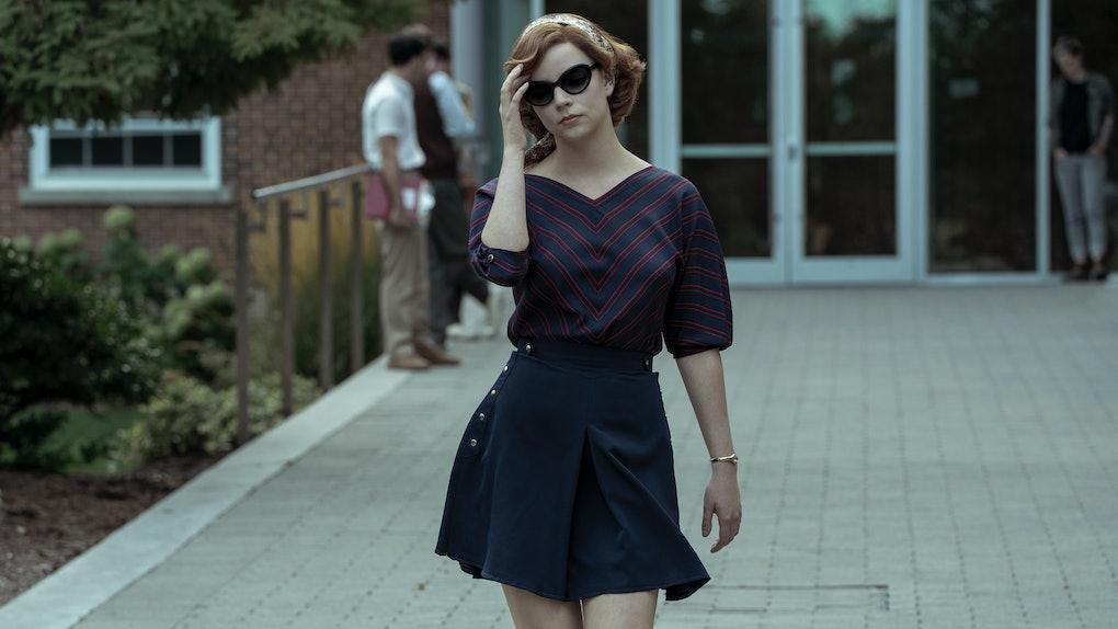 Anya Taylor-Joy as Beth Harmon in a 'The Queen's Gambit' scene