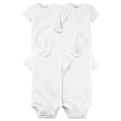 Carter's The Original Bodysuit Solid Bodysuits 5-Pack