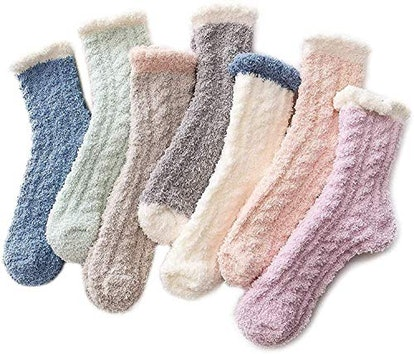 Azue Fuzzy Warm Slipper Socks (7-pack)