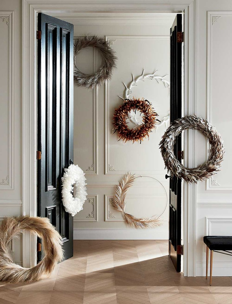 Nature-inspired wreaths are one of 2020's biggest holiday decor trends
