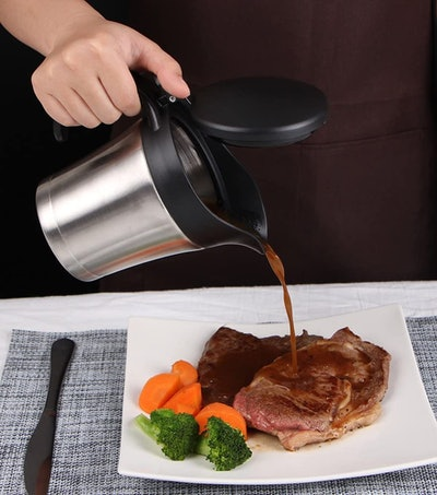 Rorence Stainless Steel Double-Insulated Gravy Boat Jug (16 Oz.)
