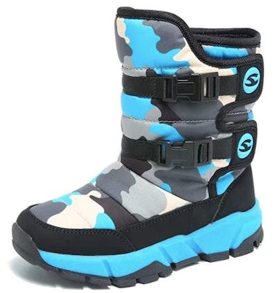 GUBARUN Boys Snow Boots Winter Waterproof Slip Resistant Cold Weather Shoes