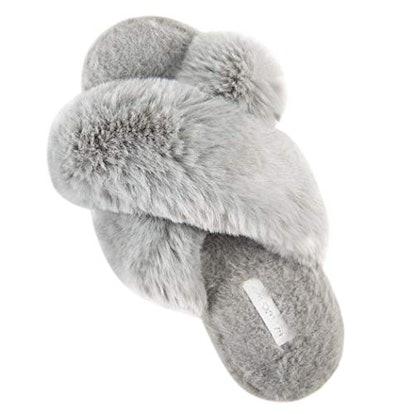 HALLUCI Plush Fleece Slippers