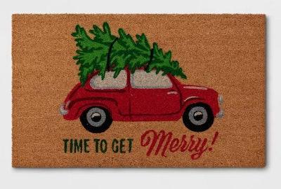 Time To Get Merry Doormat
