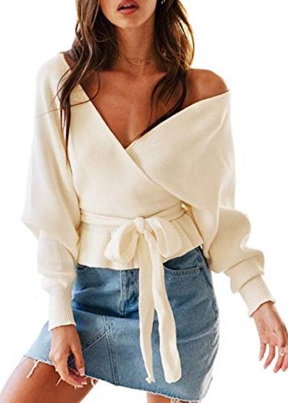 ZESICA Wraparound Sweater