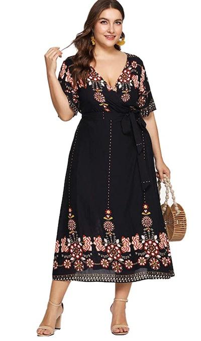 Milumia Plus Size Printed Dress