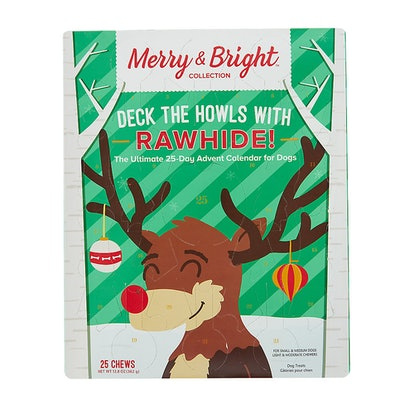 Merry & Bright™ Holiday Deck The Howls with Rawhide Advent Calendar Dog Treat