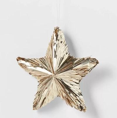 Tinsel Stars Christmas Tree Ornament Gold