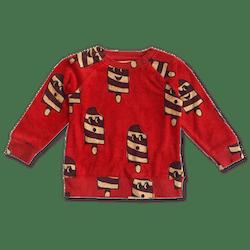Terry Sweatshirt — Ice Cream Red