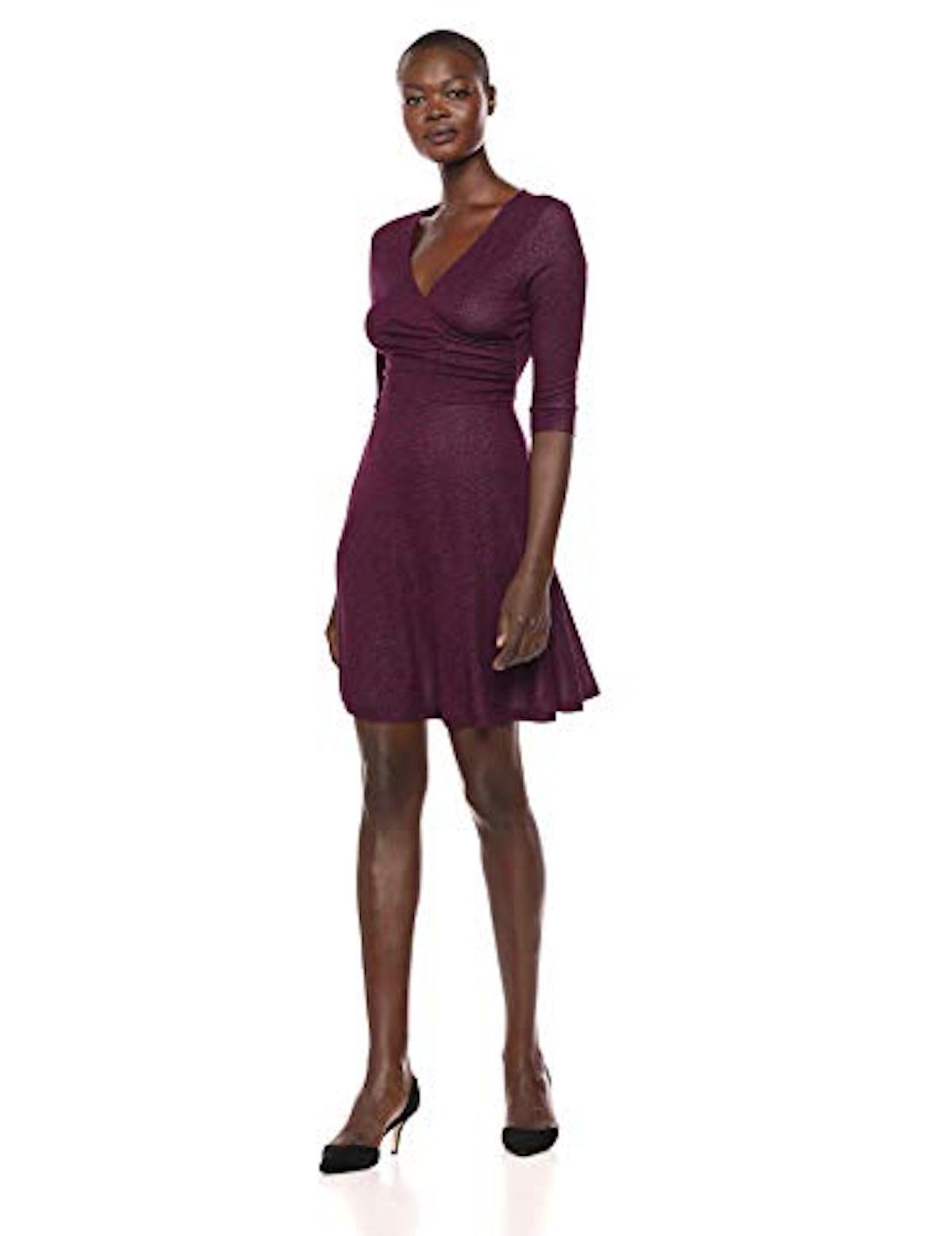 Lark & Ro Faux Wrap Dress