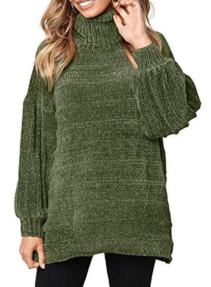 Dokotoo Oversized Turtleneck Sweater
