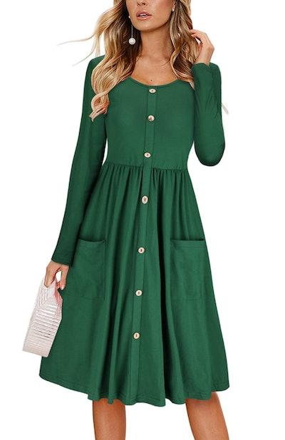 KILIG Button Down Midi Dress