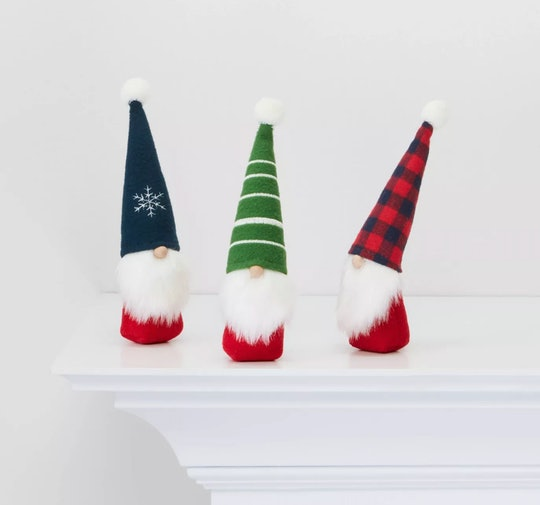 Decorate your home with these festive holiday gnomes from Target.