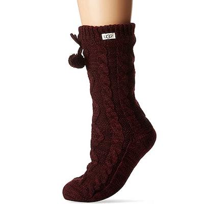 UGG Pom Fleece Lined Crew Sock