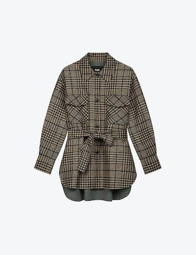Gavino oversized check coat
