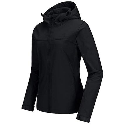 Camel Crown Fleece-Lined Water-Resistant Jacket