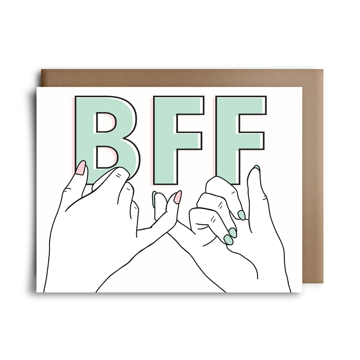 Pinky Promise BFF Greeting Card