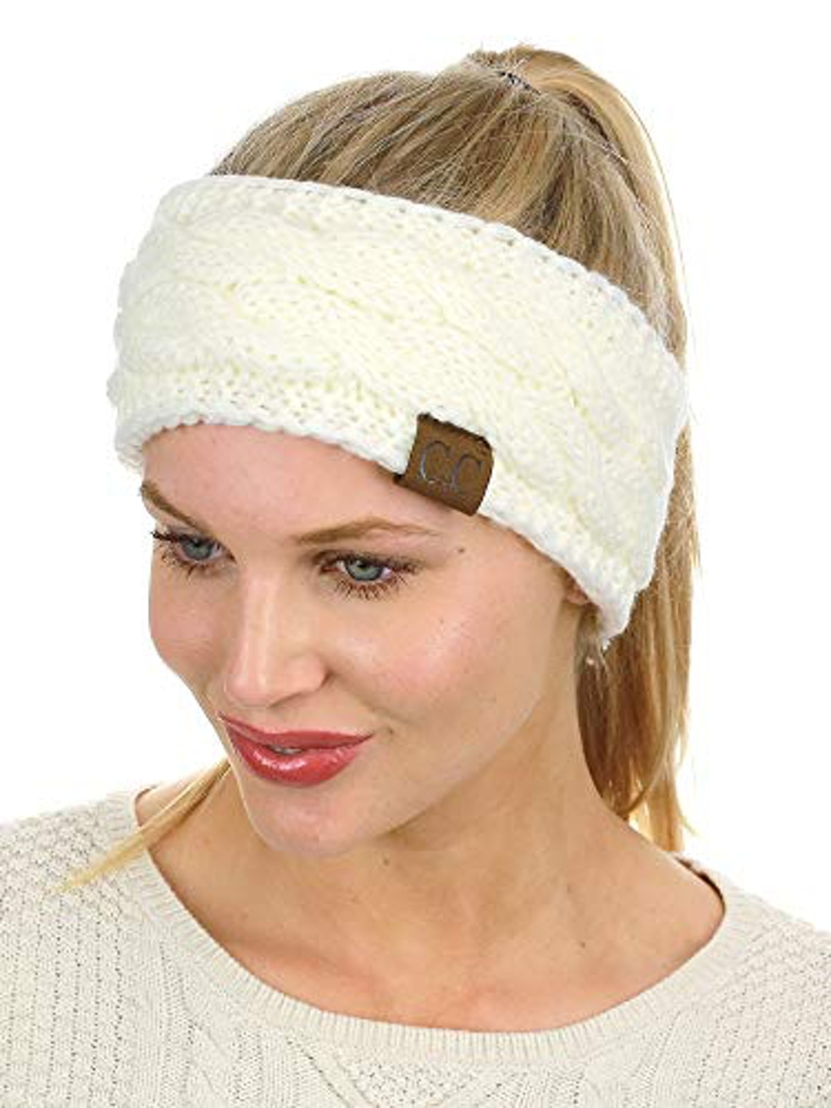 C.C Cable-Knit Fuzzy Lined Headband