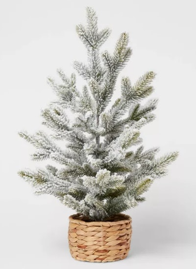 Artificial Christmas Tabletop Flocked Tree